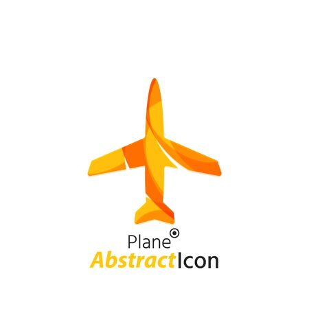 Abstract geometric business corporate emblem - airplane. Logo icon design for travel or any other idea Vector