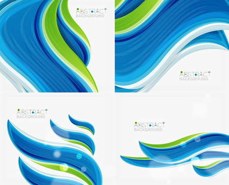 Abstract realistic solid wave background illustration