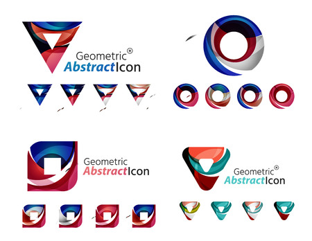 Universal abstract geometric shapes - business emblems Illustration