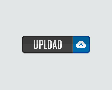 validation: Upload web button. Cloud and arrow. Modern flat design website icon and design element Illustration