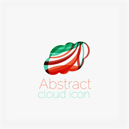 symmetric: Abstract symmetric geometric shapes, business icon. Vector icon Illustration