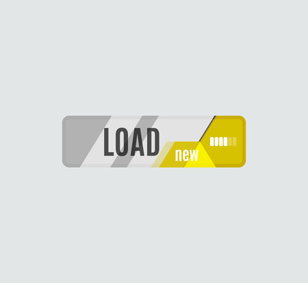 ui: Load button, futuristic hi-tech UI design. Website, mobile applications icon, online design, business, gui or ui Illustration
