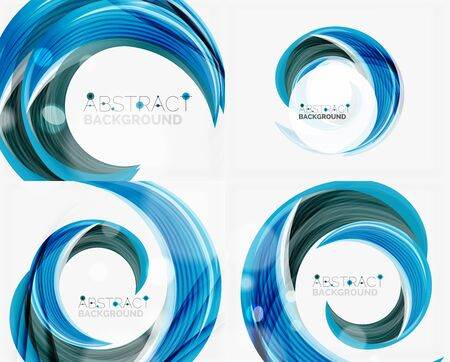 blue swirl: blue swirl line abstract background