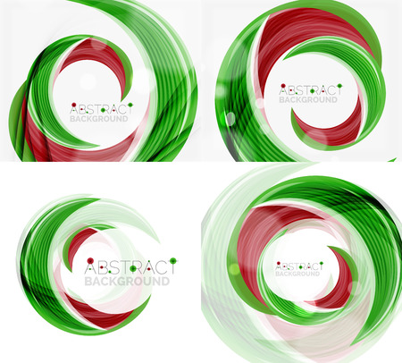 green swirl: green swirl line abstract background