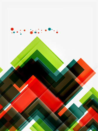 unusual: Clean colorful unusual geometric pattern design