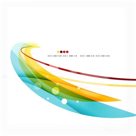 red swirl: Blue, orange, red swirl wave lines. Light design for art project