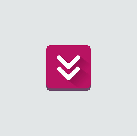 arrow icon: Colorful download web button with arrow. Modern flat design, paper graphic, website icon and design element