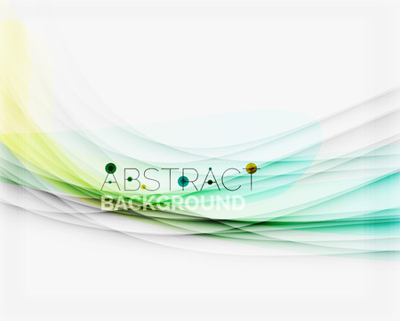 digital design: Corporate white background with gentle flowing waves. Vector business or technology universal layout