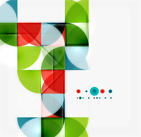 mosaic: Semicircle triangle pattern. Abstract mosaic background, online presentation website element or mobile app cover
