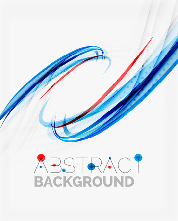 backdrop design: Fresh blue and red wave line. Abstract background Illustration