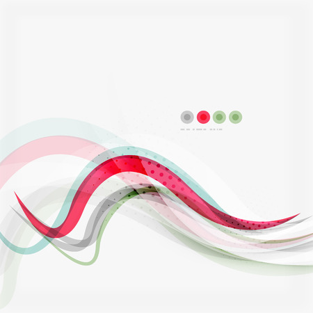 blue wave: Red and blue wave lines, abstract background, business corporate template Illustration