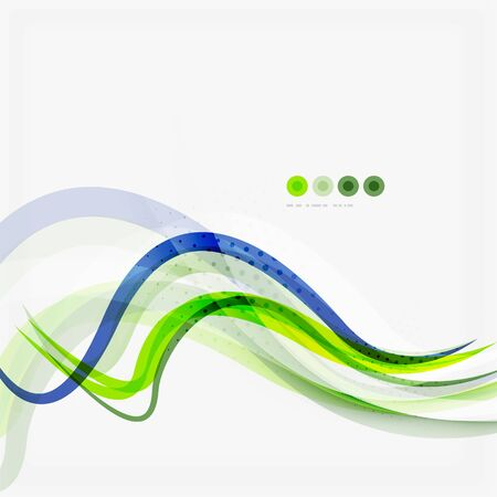 blue lines: Green and blue lines background, corporate business lines Illustration
