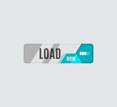 digital data: Load button, futuristic hi-tech UI design. Website, mobile applications icon, online design, business, gui or ui Illustration