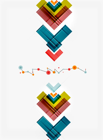 mobiele website: Clean kleurrijk ongebruikelijk geometrisch patroon design. Abstracte achtergrond, online presentatie website element of mobiele app deksel