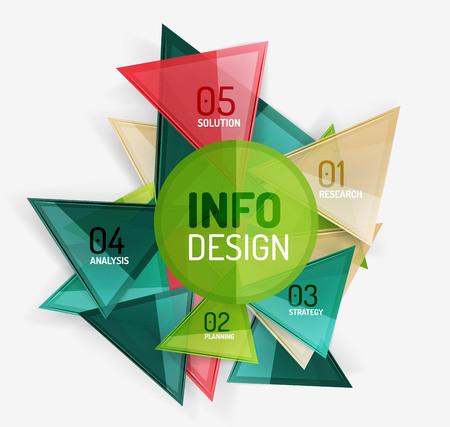 compositions: Moderno business colorate infografica geometriche, composizioni astratte Vettoriali