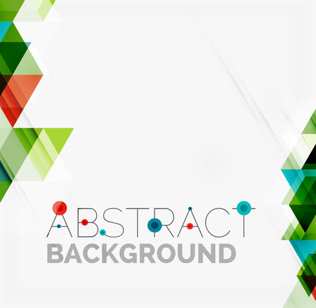 presentation card: Abstract geometric background. Modern overlapping triangles. Unusual color shapes for your message. Business or tech presentation, app cover template