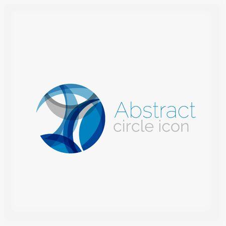 looped shape: Circle abstract shape . Vector illustration