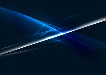 blue energy: Abstract color glowing lines in dark space with stars and light effects. Futuristic background with copyspace for your message