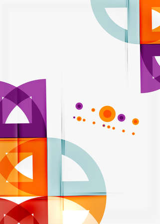 mobiele website: Halve cirkel driehoek patroon. Abstracte mozaïek achtergrond, online presentatie website element of mobiele app deksel Stock Illustratie