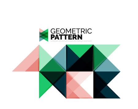Géométrique triangle mosaïque élément de motif isolé sur blanc. Élément universel de l'identité de l'entreprise. Abstrait arrière-plan, en ligne élément de site de présentation, l'identité de l'entreprise ou de la couverture mobile app Vecteurs