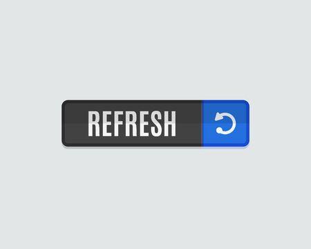 groupware: Refresh web button. Modern flat design, paper graphic, website icon and design element