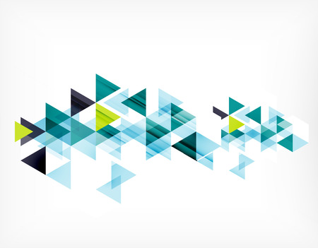 Triangle pattern composition, abstract background with copyspace. Vector illustration Çizim