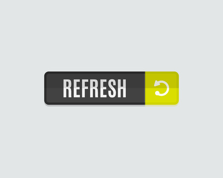 navigation pictogram: Refresh web button. Modern flat design, paper graphic, website icon and design element