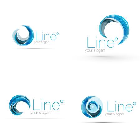 Assez Tourbillon Bleu Vecteur Conception De Logo D'entreprise Clip Art  GV27