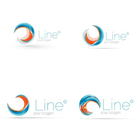 Swirl Company Blue Logo Design. Universal For All Ideas And Concepts ...