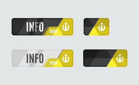 info button: Info button - information sign icon, futuristic hi-tech UI design. Website, mobile applications icon, online design, business, gui or ui