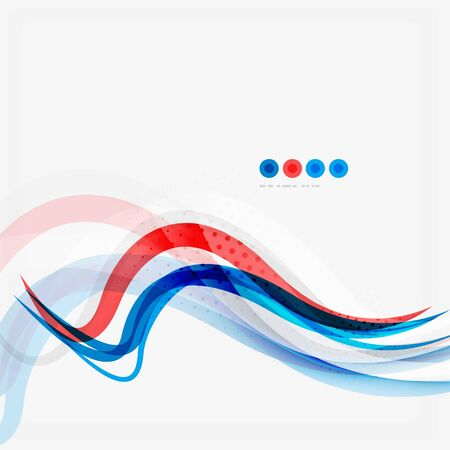 red line: Red and blue color swirl concept, abstract background