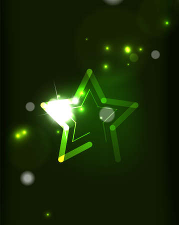 semitransparent: Glowing star and blending colors in dark space. Vector illustration. Abstract background