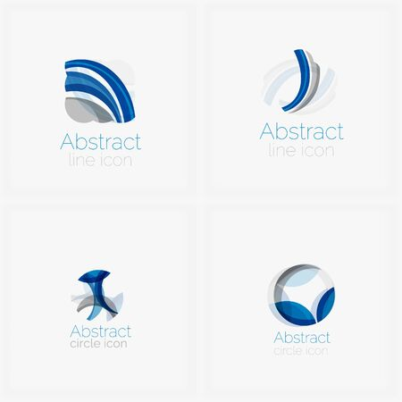 abstract shape: Circle abstract shape logo. Vector illustration Illustration