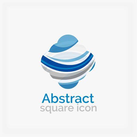 looped shape: Circle abstract shape logo. Vector illustration Illustration