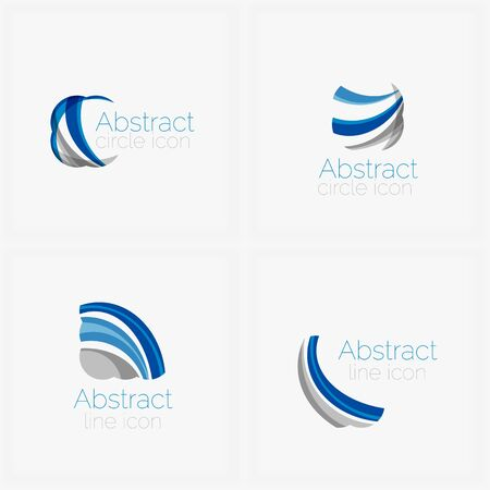 abstract shape: Circle abstract shape  . Vector illustration Illustration