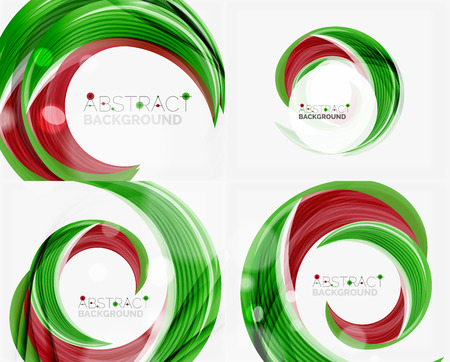 green swirl: Vector green swirl line abstract background. Modern layout for your message, slogan or brand name