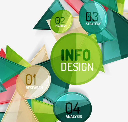 compositions: Business modern colorful geometric infographics, abstract compositions Illustration