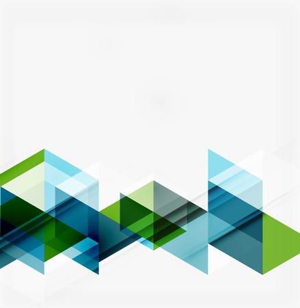 corporativo: Fondo geométrico abstracto. Triángulos superpuestos modernos. Formas de colores inusuales para su mensaje. Negocios o presentación tecnología, plantilla cubierta aplicación