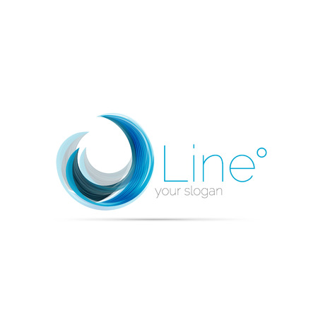 Swirl company blue logo design. Universal for all ideas and concepts. Business creative icon