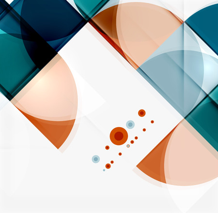 mobile website: Semicircle triangle pattern. Abstract mosaic background, online presentation website element or mobile app cover