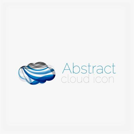 abstract shape: Circle abstract shape icon. Vector illustration