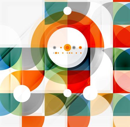 半円三角形パターン。抽象的なモザイクの背景、オンライン プレゼンテーションのウェブサイト要素または携帯アプリ カバー