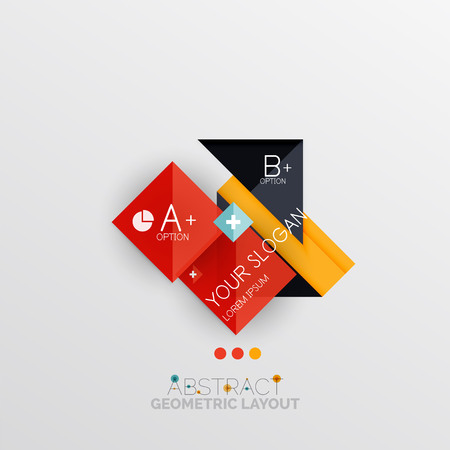 business presentation: Modern abstract geometric info banner, business presentation or web box