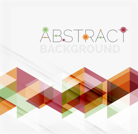 Abstract geometric background. Modern overlapping triangles Illusztráció