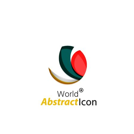 other world: Abstract geometric business corporate emblem globe, world, circle. Logo icon design for travel or any other idea