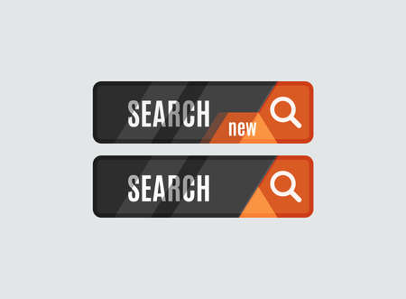 search button: Search button, futuristic hi-tech UI design. Website, mobile applications icon, online design, business, gui or ui