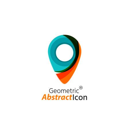logo voyage: Abstract business géométrique emblème d'entreprise
