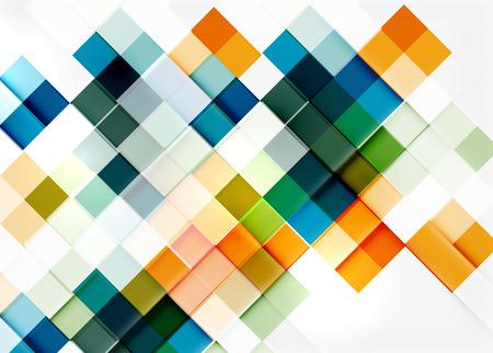 arte optico: forma cuadrada del diseño del modelo de mosaico.