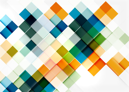 Square shape mosaic pattern design.