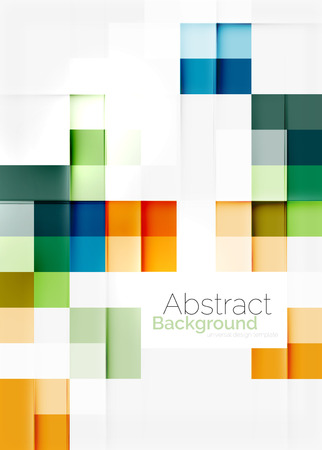 Quadratische Form Mosaik-Muster-Design.